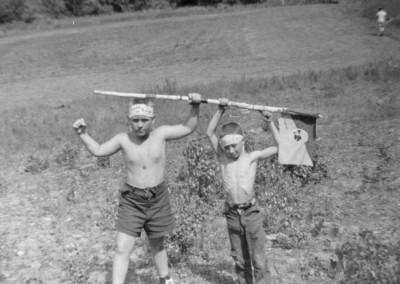 Années '50 Au terrain de baseball (terrain de soccer actuel)