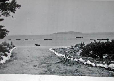 Années '50. La descente de la plage