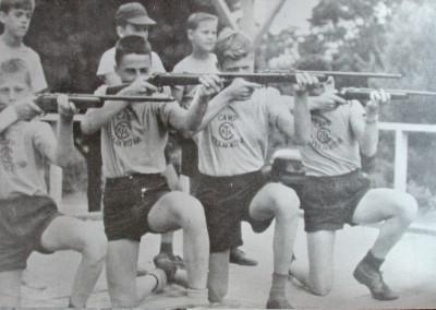 1961. Il y eut du tir à la carabine (22) jusque dans les années '80