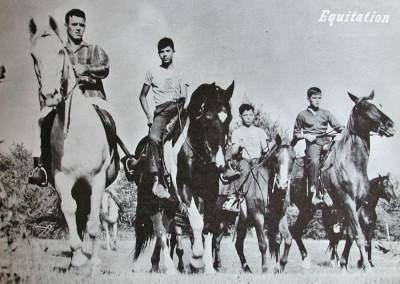 1961. L'équitation style western de 1960 à 1966 puis l'équitation style anglais de 1967 à 1975