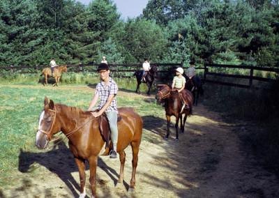 1968. L'équitation dans le manège