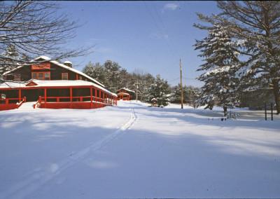 1981. Au camp en hiver.