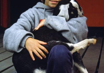 1987. Cette année nous avions deux chèvres!